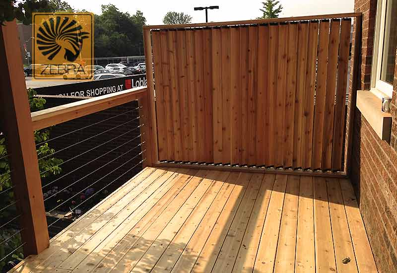 Shutters Cedar Deck Screen