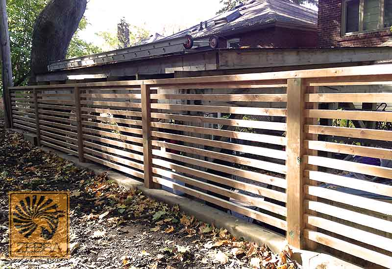 Horizontal Narrow Boards Fence