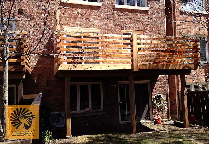 4x4 Horizontal Deck Railing