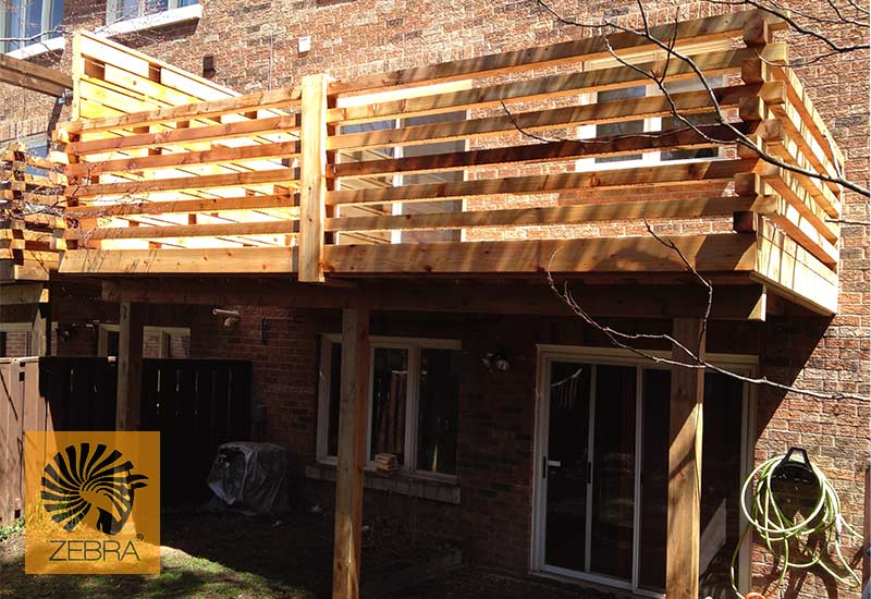 4x4 Horizontal Deck Railing2