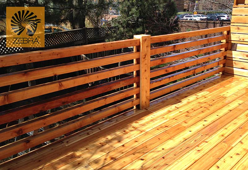 4x4 Horizontal Deck Railing3