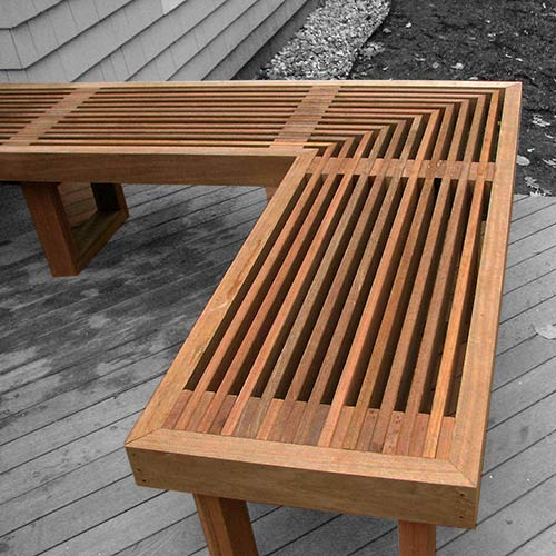 Deck Stained Bench
